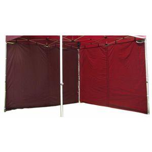 Két oldalfal PROFI kerti sátorhoz 3 x 3 m - bordó kép