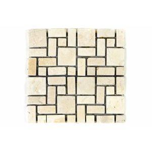Márvány mozaik DIVERO krémszínű csempék 11 db - 1m² kép