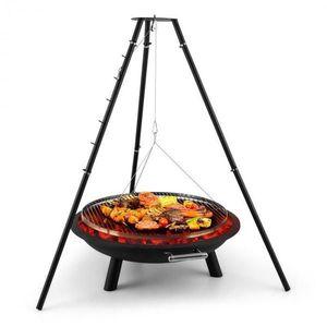 Blumfeldt Arco Trino, forgó grill, tűzrakótál, barbecue, háromlábú állvány, rozsdamentes acél kép