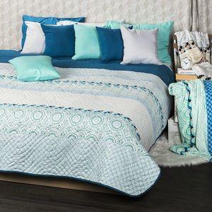 ágytakaró türkiz kép