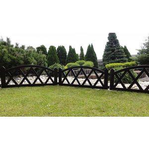 Kerti kis kerítés 2, 3 m – barna kép