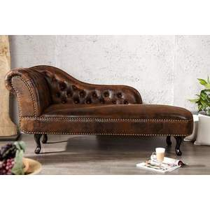 CHESTERFIELD barna antik fotel kép