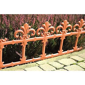 Art Kerti kerítés 34 cm – terrakotta kép