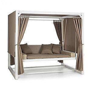 Blumfeldt Eremitage luxus hintaszék, 236x180x210cm, fehér/barnásszürke kép