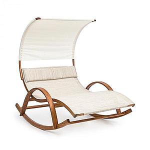 Blumfeldt Mauritius, hintaágy, napellenzővel, ComfortMesh, 180 kg max., vízálló, krémszínű kép
