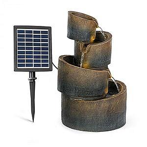 Blumfeldt Mantua, kaszkád szökőkút, napenergia szökőkút, kerti szökőkút, 4 szint, akkumulátorral működik kép
