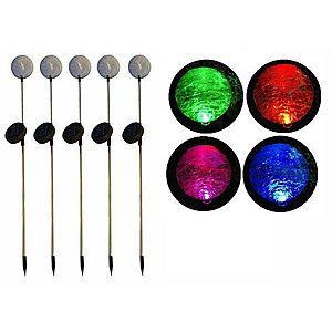 REMO kerti szoláris LED lámpa készlet, Garth – 5 db színváltó üveggömb kép