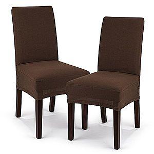 4Home Comfort Multielasztikus székhuzat barna, 40 - 50 cm, 2 db-os szett kép