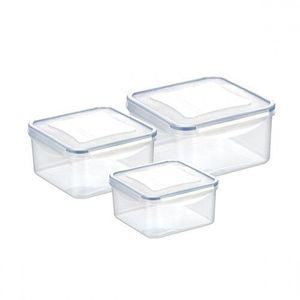 Tescoma FRESHBOX négyzet alakú ételtároló doboz, 3 db, 1, 2/2/3 l kép