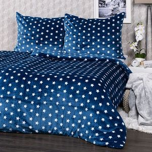 4Home Stars mikroflanel ágyneműhuzat kék, 140 x 220, 70 x 90 cm, 140 x 220 cm, 70 x 90 cm kép