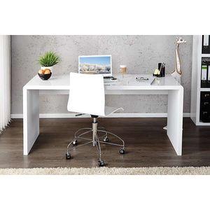 Íróasztal Barter 120cm fehér, magas fény kép