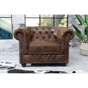 CHESTERFIELD barna antik fotel kép