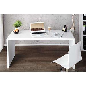 Íróasztal Barter 140cm fehér, magas fény kép