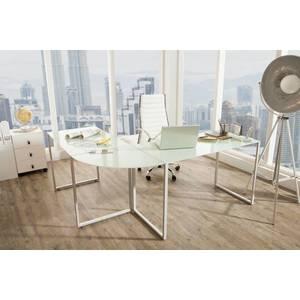 Sarok íróasztal Atelier üveg / fehér kép