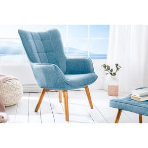 Stílusos fotel Sweden, kék kép