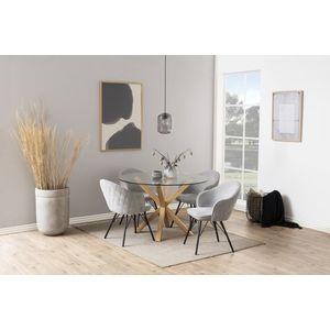 Kerek étkezőasztal Neele 119 cm üveg kép