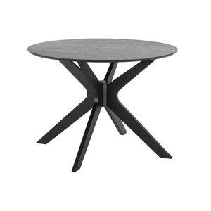 Kerek étkezőasztal Neeja 105 cm fekete tölgy kép