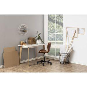 Stílusos íróasztal Niecy 117 cm - fehér kép