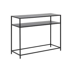 Stílusos konzolasztal Layton 100 cm fekete kép