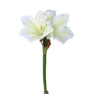 Mű Amaryllis fehér - zöld, 52 cm kép