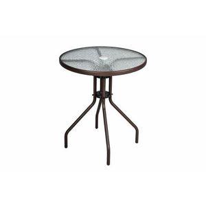 Kerti asztal üveglappal BISTRO - barna kép