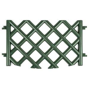 Kerti rácsos kerítés – zöld kép