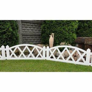 Kerti kis kerítés 2, 3 m – fehér kép