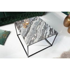 Design dohányzóasztal Factor 50 cm márvány szürke kép