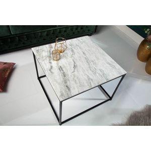 Design dohányzóasztal Factor 50 cm márvány fehér kép