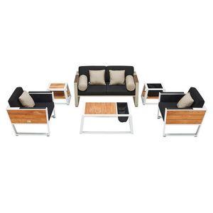 Kerti szett HIGOLD - York Lounge White/Black Olefin kép