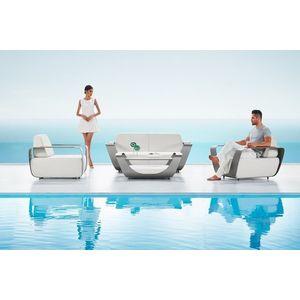 Kerti szett HIGOLD - Onda Lounge Sunbrella Grey/White Quick dry foam kép