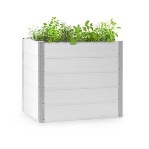 Blumfeldt Nova Grow, kerti ágyás, 100 x 91 x 100 cm, WPC, fa megjelenés, fehér kép