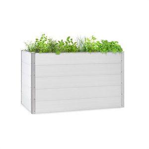 Blumfeldt Nova Grow, kerti ágyás, 150 x 91 x 100 cm, WPC, fa megjelenés, fehér kép