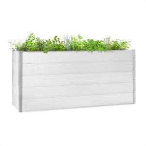 Blumfeldt Nova Grow, kerti ágyás, 195 x 91 x 50 cm, WPC, fa megjelenés, fehér kép