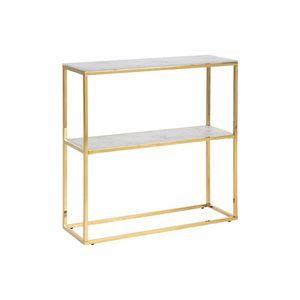 Luxus konzolasztal Agostino 79 cm arany - üveg kép