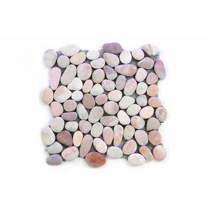 Mozaik burkolat DIVERO® 1m2 - folyami kavics, bézs kép