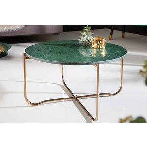Design dohányzóasztal Tristen 62 cm márvány zöld kép