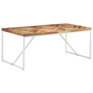 vidaXL tömör akácfa és mangófa étkezőasztal 180 x 90 x 76 cm kép