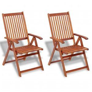 vidaXL 2 db barna összecsukható tömör akácfa kerti szék kép