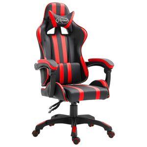vidaXL piros műbőr gamer szék kép