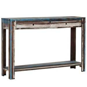vidaXL vintage stílusú tömör fa tálalóasztal 118 x 30 x 80 cm kép