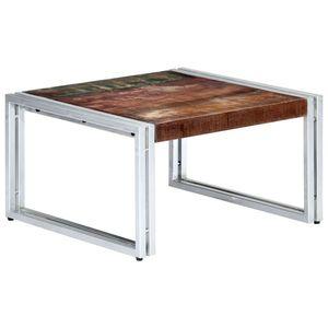 vidaXL tömör újrahasznosított fa dohányzóasztal 60 x 60 x 35 cm kép