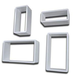 vidaXL 8 db fehér fali kockapolc kép