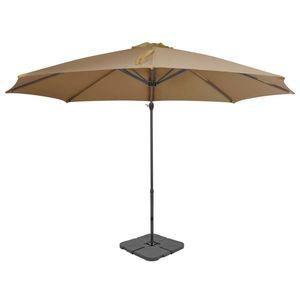 vidaXL topszínű kültéri napernyő hordozható talppal kép