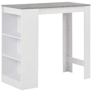 vidaXL fehér bárasztal polccal 110 x 50 x 103 cm kép