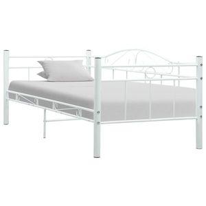 vidaXL fehér fém kanapéágy-keret 90 x 200 cm kép