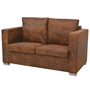 vidaXL 2-személyes, műbőr kanapé 137 x 73 x 82 cm kép