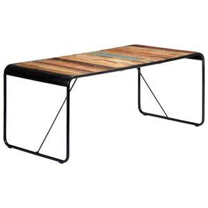 vidaXL tömör újrahasznosított fa étkezőasztal 180 x 90 x 76 cm kép