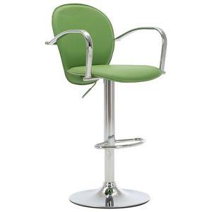 vidaXL zöld műbőr karfás bárszék kép