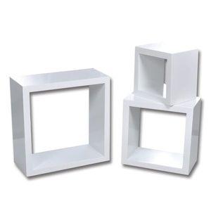 vidaXL 6 db fehér kocka alakú fali polc kép